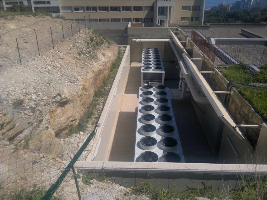 L'unité de production d'eau glacée. Photos Jean Guyard - CH de Bastia