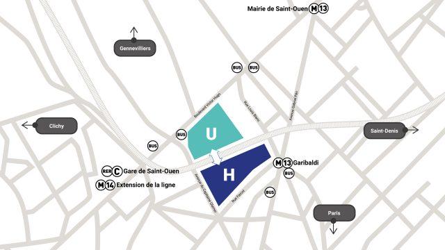 Plan du futur campus Grand Paris-Nord (carte issue du site du projet de campus)