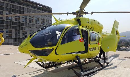 Le nouvel hélicoptère du Samu 13. Source: AP-HM