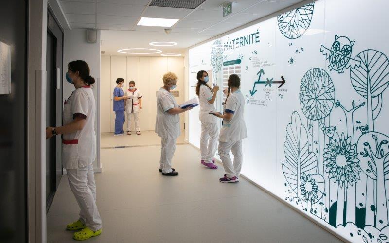 Maternité de la clinique Sainte-Anne, à Strasbourg. Photo: Frédéric Maigrot